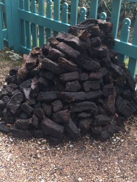 A pile of peat.