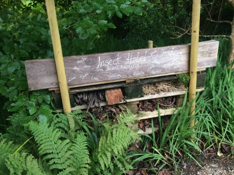 "We saw several ""insect hotels"" in the garden."