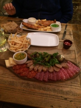 Charcuterie Board & Fish and Chips