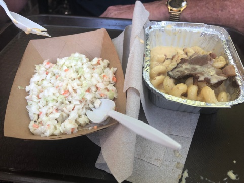 Coleslaw, Bacon Brisket Mac & Cheese